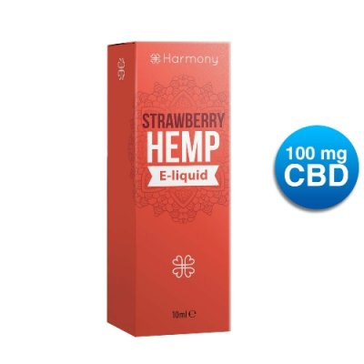 Harmony Strawberry Hemp CBD E-Liquid 100mg/10ml